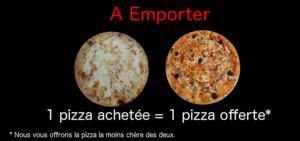 Promo pizza emportée